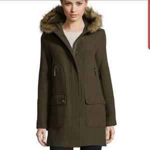 Vince Camuto olive green coat